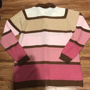 jason maxwell Sweaters - Pink and brown zippered sweater